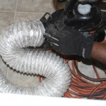 Dryer vent cleaning from the inside